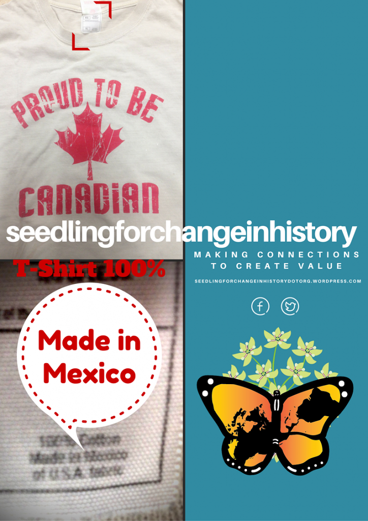 Proud to be Canadian: a t-shirt Made in Mexico